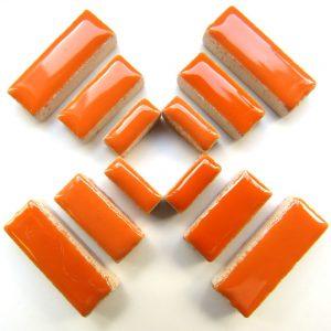 Ceramic Rectangles Popsicle Orange H172