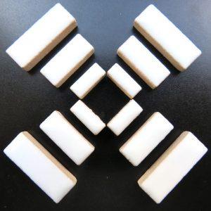 Ceramic Rectangles White H3