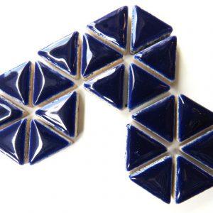 Ceramic Triangles Indigo H19