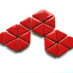 Ceramic Triangles Poppy Red H401