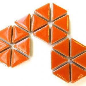 Ceramic Triangles Popsicle Orange H6