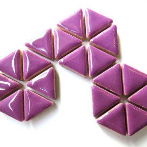 Ceramic Triangles Pretty Purple H401