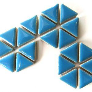 Ceramic Triangles Thalo Blue H171