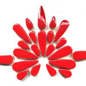 Teardrops Poppy Red H401